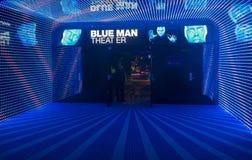 Blaues Manntheater Stockfotos