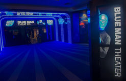 Blaues Manntheater Lizenzfreie Stockbilder