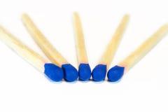Blaues Match Lizenzfreie Stockfotografie
