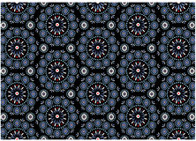 Blaues Medaillon-Muster Lizenzfreies Stockfoto