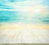 Blaues Meer, Himmel u Stockbild