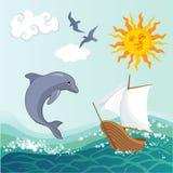 Blaues Meer, Himmel u Stockfoto