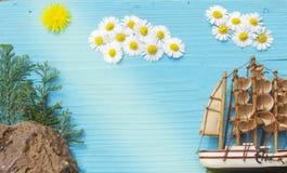 Blaues Meer, Himmel u lizenzfreies stockbild