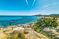 Blaues Meer in Sant-` Elmo Lizenzfreie Stockfotos