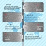 Blaues Metall-infographics Stockfotos