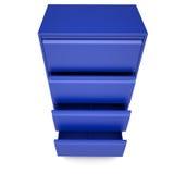 Blaues Metallkabinett Stockbild