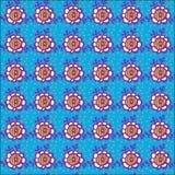 Blaues mit Blumenmuster Lizenzfreies Stockfoto