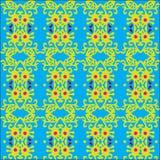 Blaues mit Blumenmuster Stockbilder