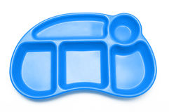 Blaues Mittagessen-Tellersegment Lizenzfreies Stockbild