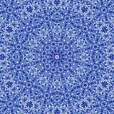 Blaues Mosaik in der islamischen arabischen Art, blaue Mandala und Arabeske Lizenzfreie Stockfotos