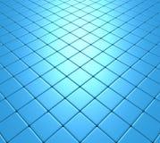 Blaues Mosaik Fliehens Stockfoto