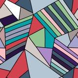 Blaues Muster des nahtlosen Vektors, zeichnete asymetrischen geometrischen Hintergrund mit Raute, Dreiecke Druck für Dekor, Tapet vektor abbildung
