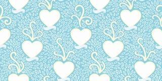 Blaues Muster mit Herzen und Fahne lizenzfreie abbildung