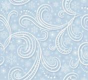 Blaues Muster mit Schneeflocken Stockfotos