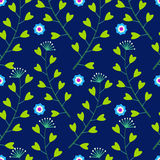 Blaues Muster mit senkt und Gras Stockbild