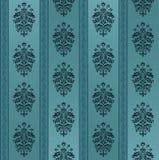 Blaues nahtloses aufwändiges Muster Stockbilder