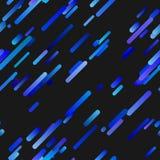 Blaues nahtloses diagonales Steigungsstreifen-Hintergrundmuster - modisches Vektordesign Stock Abbildung