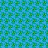 Blaues nahtloses Dreieckzusammenfassungsmuster Lizenzfreies Stockbild