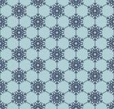 Blaues nahtloses Muster der Schneeflocke ENV 10 vektor abbildung