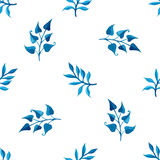 Blaues nahtloses Muster des Aquarells Stockbilder