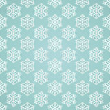 Blaues nahtloses Schneeflockenmuster Stockbilder
