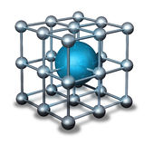 Blaues nanoparticle Atom Stockbild
