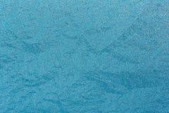 Blaues natürliches Frosty Glass Ice Background Winter-Weihnachtsweihnachten Lizenzfreies Stockfoto