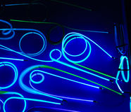 Blaues Neon stockbilder