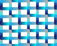 Blaues blaues Neongitter auf weißem Hintergrund lizenzfreie abbildung