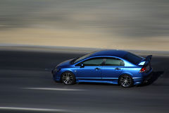 Blaues neues Auto Lizenzfreie Stockfotografie