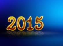Blaues neues Jahr backgound 2015 Stockfoto