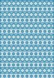 Blaues nordisches Muster Lizenzfreie Stockfotos