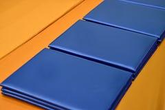 Blaues Notizbuch lizenzfreie stockfotos