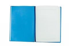 Blaues Notizbuch Stockfoto