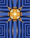 Blaues Organrohrkreuz Stockbild