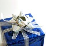 Blaues Paket Stockfotografie