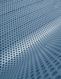 Blaues perforiertes metallisches Rasterfeld Stockbilder