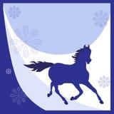 Blaues Pferd Stockbild