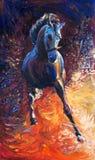 Blaues Pferd Stockbilder