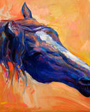Blaues Pferd Lizenzfreie Stockfotografie