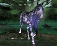 Blaues Pferd mit blauen Augen Lizenzfreie Stockfotos