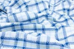 Blaues Plaidgewebe Lizenzfreies Stockfoto