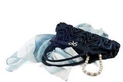 Blaues Pochette Stockfotos