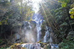Blaues Pool bei Kuang Si Waterfalls Stockbilder