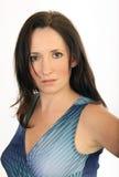 Blaues Portrait ernst lizenzfreies stockbild