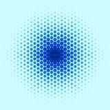 Blaues Punkt-Muster stock abbildung