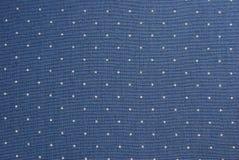 Blaues punktiertes Gewebe Stockfotografie