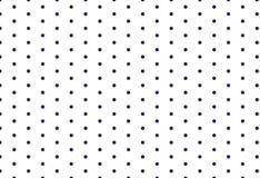 Blaues Punktmuster auf weißem Hintergrund, Stockbild