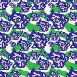 Blaues purpurrotes und grünes raues abstraktes dunkles Auge lizenzfreie abbildung