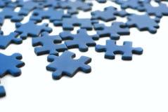 Blaues Puzzlespiel Stockbild